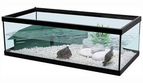 Aquatlantis TORTUM 75 - Аквариум для черепах, 75х36х25 см, черный + фильтр