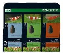 Dennerle Nano Care Set - комплект для ухода за водой, удобрение + кондиционер + комплекс витаминов и микроэлементов, 3х15 мл