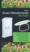 Dennerle Nano FilterElement - сменный фильтрующий элемент для фильтров Eckfilter - 3 шт. + губка предварительной очистки