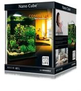 Dennerle NanoCube Complete+ 60 Style LED L - Нано-аквариум с расширенным комплектом для установки и светильником Nano Style LED L, 38x38x43 см, 60 л