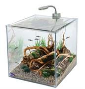 Gloxy Optic Set-27, 30х30х30см, 27л, аквариум-кубик с фильтром и светильников