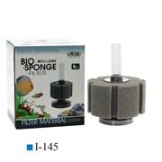 ISTA Фильтр аэрлифтный с круглым основанием S. Высота 9,3/16 см, губка цилиндр 5см х 8,5см(диаметр)