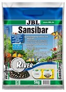 JBL Sansibar RIVER - Декоративный грунт для аквариума, светлый, мелкий, с черными вкраплениями, 5 кг.
