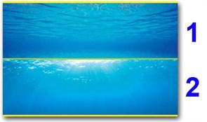 Juwel - внешний 2-сторонний фон №2 (море - море и солнце) 150х60 см