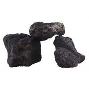 PRIME - декорация природная Черный вулканический камень М 10-20 см