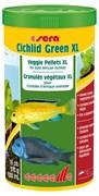 sera Cichlid Green XL 1 л - гранулы со спирулиной (10%) для крупных травоядных цихлид