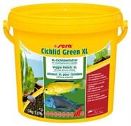 sera Cichlid Green XL 3,8 л (1,3 кг) - гранулы со спирулиной (10%) для крупных травоядных цихлид