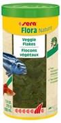 sera Flora Nature 1 л (210 г) - корм для рыб в хлопьях