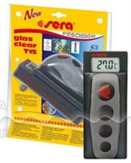 sera Glas Clear T15 - магнитный скребок + электронный термометр - для стёкол до 15 мм