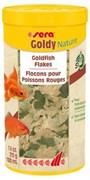 sera Goldy Nature 1 л (210 г) - корм для рыб в хлопьях