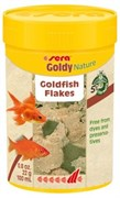 sera Goldy Nature 100 мл (22 г) - корм для рыб в хлопьях