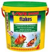 sera pond (Bio) flakes 10 л (хлопья) - корм для всех видов прудовых рыб