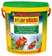 sera pond Color Sticks 10 л - корм для улучшения окраски прудовых рыб
