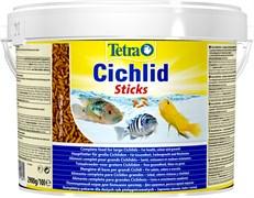 Tetra Cichlid Sticks 10 л (ведро) - основной корм для цихлид (палочки)