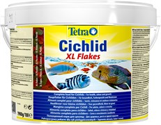 Tetra Cichlid XL Flakes 10 л (ведро) - основной корм для цихлид (хлопья)