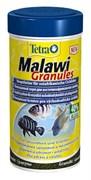 Tetra Malawi Granules 250 мл - корм для растительноядных рыб с водорослями, гранулы