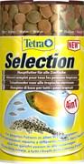 Tetra Selection 4 в 1 (100 мл) - хлопья, чипсы, гранулы, вафер микс