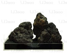 UDeco Black Lava MIX SET 15 - Набор натуральных камней 'Лава чёрная' 15 кг