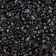 UDeco Canyon Black 4-6 мм, 2 л - натуральный грунт для аквариумов Черный гравий