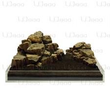 UDeco Fossilized Wood Stone MIX SET 15 - Набор натуральных камней 'Окаменелое дерево' 15 кг