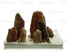 UDeco Stonewood MIX SET 30 - Набор натуральных камней 'Окаменелое дерево красно-коричневое' 30 кг