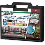 JBL Test Combi Set + Fe (железо) - водонепроницаемый пластиковый чемодан, содержащий набор из 5 тестов + 1 таблица (СО2) для определения основных параметров воды