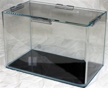 PRIME - аквариум 10л без швов на передней стенке из стекла OptiWhite, 22х22х22 см, с покровным стеклом
