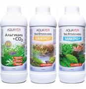 Aquayer - набор удобрений (Микро+, Макро+, Альгицид+СО2), 3 х 1000 мл