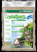 Dennerle Kristall-Quarz - аквариумный грунт, гравий фракции 1-2 мм, цвет природный белый, 10 кг.