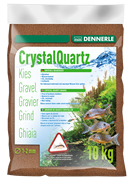 Dennerle Kristall-Quarz - аквариумный грунт, гравий фракции 1-2 мм, цвет светло-коричневый (цвет косули), 5 кг.