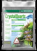 Dennerle Kristall-Quarz - аквариумный грунт, гравий фракции 1-2 мм, цвет сланцево-серый, 10 кг.