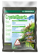 Dennerle Kristall-Quarz - аквариумный грунт, гравий фракции 1-2 мм, цвет черный, 10 кг.