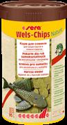 sera Wels chips Nature 250 мл - корм для лорикариевых сомов (присосок)