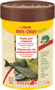 sera Wels chips Nature 100 мл - корм для лорикариевых сомов (присосок)