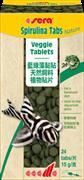 sera Spirulina Tabs Nature 24  таблетки - корм со спирулиной
