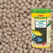 sera Cichlid Green XL 360г (соответствует объёму 1 л) на развес - гранулы для крупных травоядных цихлид