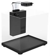 Аквариум Atman ZGT-20 черный, 12 литров, 22,4х22,4х26см (в комплекте внутренний фильтр, LED светильник, покровное стекло)