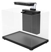 Аквариум Atman ZGT-50 черный,41 литр, 50,4х25,4х34см (в комплекте внутренний фильтр, LED светильник, покровное стекло)