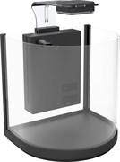 Аквариум дуговой Atman BGT-25 черный, 10 литров, 25,4х21х26см (в комплекте внутренний фильтр, LED светильник)