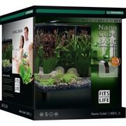 Dennerle NanoCube Basic 60 Style LED L - Нано-аквариум с базовым комплектом для установки и светильником Nano Style LED L, 38x38x43 см, 60 л