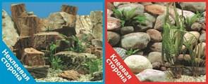 Фон двусторонний 100x50см с одной самоклеящейся стороной Каменная терасса/Каменный рельеф (СК)