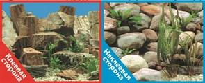 Фон двусторонний 100x50см с одной самоклеящейся стороной Каменная терасса (СК)/Каменный рельеф
