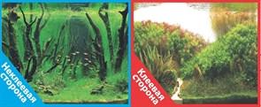 Фон двусторонний 60x30см с одной самоклеящейся стороной Коряги с растениями/Растительные холмы (СК)