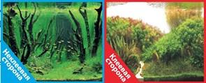 Фон двусторонний 100x50см с одной самоклеящейся стороной Коряги с растениями/Растительные холмы (СК)