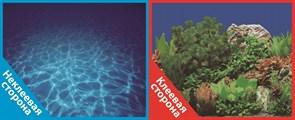 Фон двусторонний 60x30см с одной самоклеящейся стороной Синее море/Растительный пейзаж (СК)