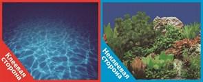 Фон двусторонний 60x30см с одной самоклеящейся стороной Синее море (СК)/Растительный пейзаж