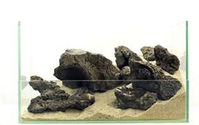 """GLOXY """"Галапагосский пористый"""" набор камней разных размеров (упаковка-20 кг)"""
