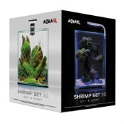 AQUAEL Shrimp set Smart LED Day/Night 30 л - аквариум с набором оборудования, черный