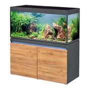 EHEIM incpiria 430л графит, фасады сосна  - комплект аквариум с тумбой, тумба с декоративной LED подсветкой