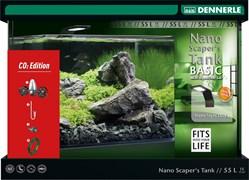 Dennerle Nano Scaper's Tank Basic 50 Style LED Limited edition CO2 - Панорамный нано-аквариум для акваскейпинга 45х36х34 см, 50 л - с комплектом оборудования и системой подачи CO2, баллон приобретается отдельно